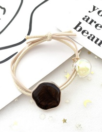 Fashion Dark Beige Irregular Drip Hair Ring