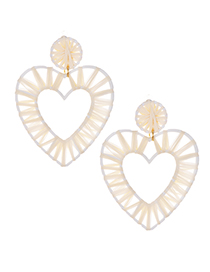 Fashion White Love Alloy Lafite Earrings