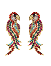 Fashion Red Alloy Studded Stud Earrings