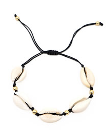 Fashion Black Natural Shell Bracelet