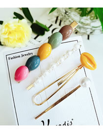 Fashion Color Acrylic Shell Pearl Hair Clip