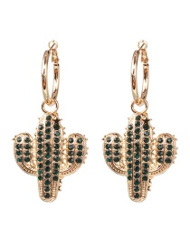 Fashion Green Cactus Earrings