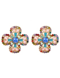 Fashion Color Flower Earrings
