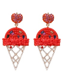Fashion Red Ice Cream Earrings