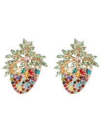 Fashion Color Strawberry Stud Earrings