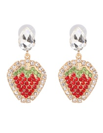 Fashion Red Color Fruit Strawberry Earrings