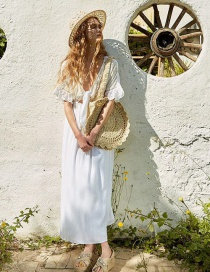 Fashion White Openwork Embroidered Lace Skirt