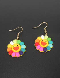 Fashion Color Sun Flower Earrings