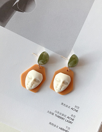 Fashion Yellow Face Resin Face Doll Earrings