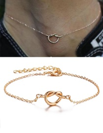 Fashion Gold Alloy Concentric Chain