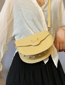 Fashion Yellow Pu Car Line Shoulder Bag Messenger Bag