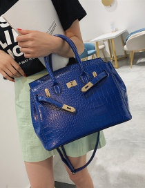 Fashion Sapphire Blue Stone Pattern Crossbody Shoulder Bag