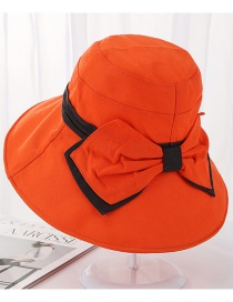 Fashion Orange Dalat Bow Visor Fisherman Hat