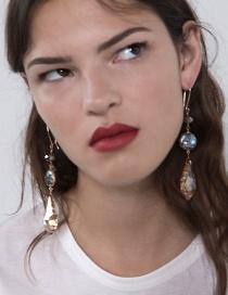 Fashion Color Alloy Crystal Earrings