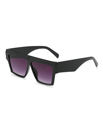 Fashion Black Frame Gradient Gray Square Sunglasses