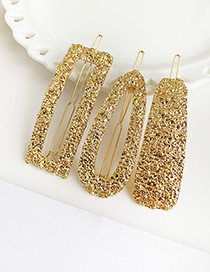 Fashion Gold Alloy Geometry Hair Clip Three-piece