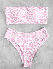 Fashion Pink Leopard Point Bikini