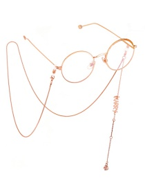 Fashion Rose Gold Metal Chain Glasses Chain