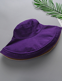 Fashion Purple Double-sided Fisherman Hat