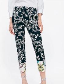 Fashion Black Printed Casual Pants
