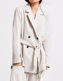 Fashion Stripe Striped Double-breasted Suit