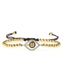 Fashion Gold Micro-inlaid Zircon Eye Copper Bead Bracelet