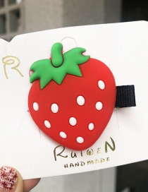 Fashion Strawberry [hair Clip] Strawberry Hair Clip