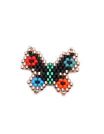 Fashion Color Rice Beads Woven Small Butterfly Accessories