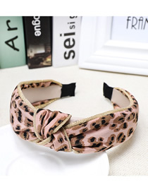 Fashion Pink Leopard Knotted Fabric Headband