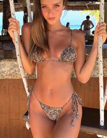 Fashion Leopard Printed Strap Bikini