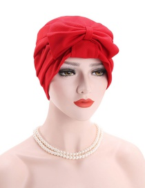 Fashion Red Bow Bonnet