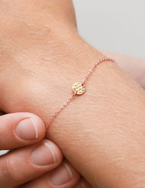 Fashion Rose Gold Geometric Round Stainless Steel Adjustable Bracelet