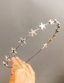 Fashion Silver Alloy Five-pointed Star Hair Band