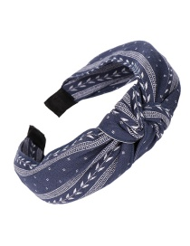 Fashion Navy Cloth Bow Knotted Wide-brimmed Headband