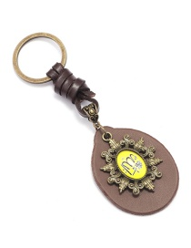 Fashion Gold Metal Keychain