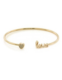 Fashion Gold Diamond Alphabet: Fine Bracelet