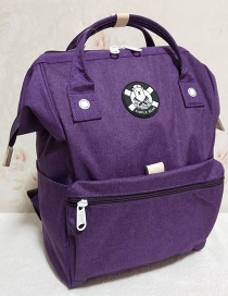 Fashion Purple Mai Cloth Portable Backpack