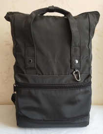 Fashion Black Waterproof Black Gold Nylon Backpack