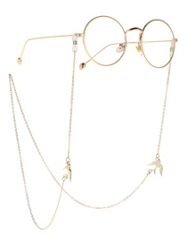 Fashion Gold Metal Swallow Glasses Chain