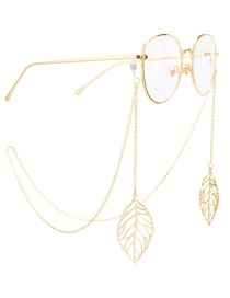 Fashion Gold Non-slip Metal Leaf Glasses Chain