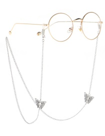 Fashion Silver Butterfly Necklace Glasses Chain Dual Purpose