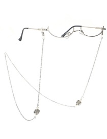 Fashion Silver Lantern Chain Star Zircon Lensless Glasses Frame