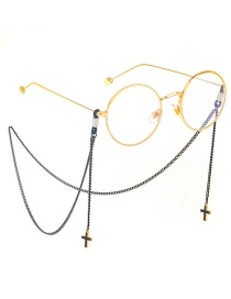 Fashion Black Hanging Neck Cross Does Not Fade Chain Glasses Chain