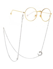 Fashion Silver Rhinestone Star Moon Chain Anti-lost Metal Glasses Chain
