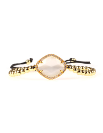 Fashion Gold Imitation Opal Diamond Rhodium Crystal Gold-plated Solid Copper Bead Woven Bracelet