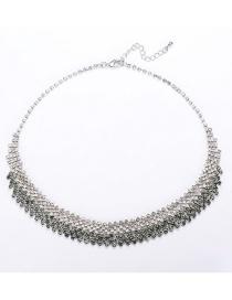 Fashion Silver Gradient Necklace