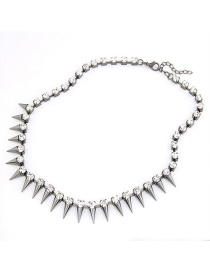 Fashion Black Rivet Necklace