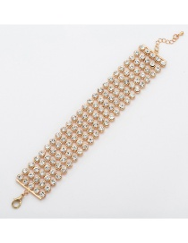 Fashion Gold Multi-row Full Diamond Bracelet