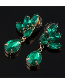Fashion Green Diamond Drop Earrings