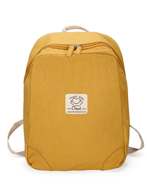 Fashion Yellow Solid Color Backpack